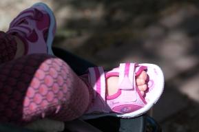 Pink shoe
