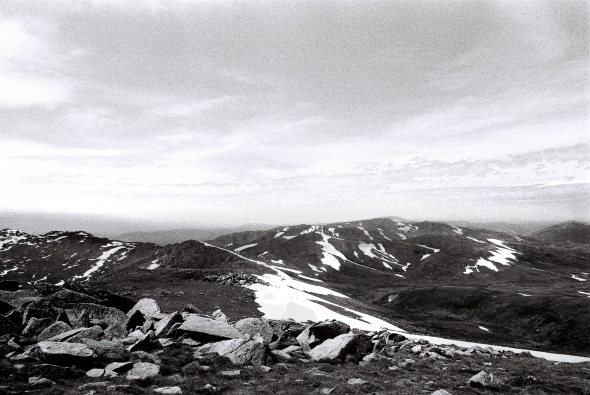Looking west from Mount Kosciuszko