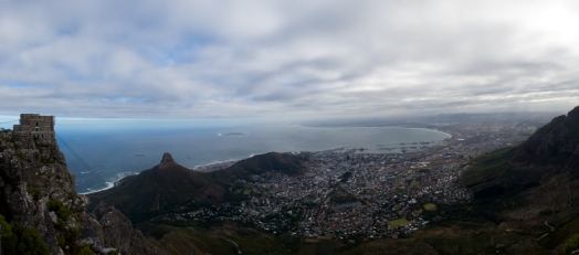 A view of Cape Town from Table Mountain