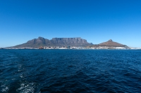 A view of Cape Town on the way to Robben Island